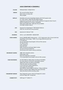 Zenfone 6 Specifikationer