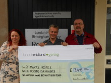 London Midland staff raise over £12,000 for local hospice