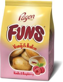 Den lilla vaniljbullen Funs lanseras i ny somrig hallonsmak
