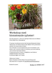 Workshop med blomstrande nyheter