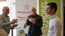 Hållbara affärsidéer gav vinst i pitchtävling på Zinkgruvan re:thinks Promotion Event