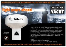 Press & Partner Invitation - Digital Yacht Introduce GPS160 TriNav Sensor At The Southampton Boatshow
