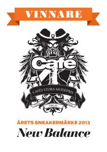 New Balance vinnare av Cafés Stora Modepris