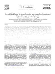 Studie om bl a växtsteroler publicerad i Journal of Nutritional Biochemistry, 2009