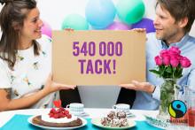 Över 540 000 deltog i årets stora Fairtrade-fika