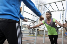 Få hjälp med träning i utegymmen i vår
