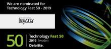 Beatly är 1 av Sveriges 50 snabbaste teknikföretag