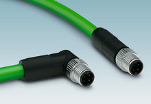 Konfektioneret M8-datakabel med D-kodning til Ethernet og PROFINET