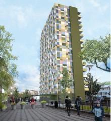 Kevius (M): Höghus med 240 studentbostäder i Tensta centrum