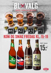 Danskerne skal vælge specialbryggede øl til MENY