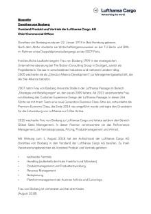 Biographie Dorothea von Boxberg - CCO Lufthansa Cargo (Deutsch)