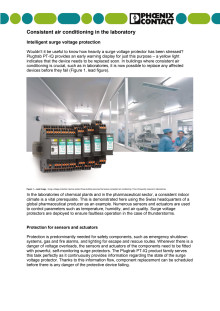 Consistent air conditioning in the laboratory