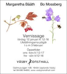 Margaretha Bååth och Bo Mossberg, 12 januari-3 februari 2019
