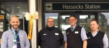 Hassocks station team support community efforts to raise awareness of childhood cancer