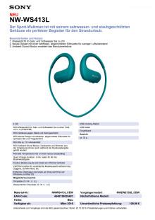 Datenblatt NW-WS413L von Sony_Grün