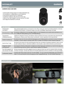 Datenblatt Dash Cam Mini