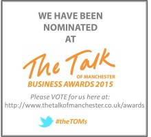 Vote now for Finegreen as Best Recruitment Agency at the Talk of Manchester Business Awards!