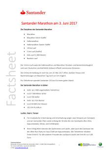 Factsheet: Santander Woche_Santander Marathon