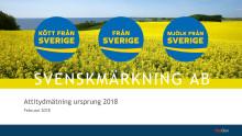 Svenskmärkning ABs  attitydmätning 2018