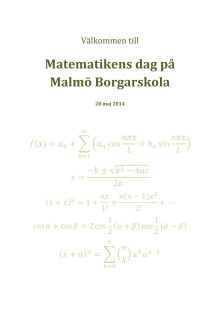 Program Matematikens dag 28 maj