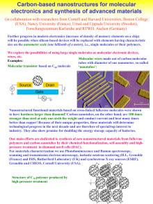 Forskning om kolbaserade nanostrukturer inom Materialvetenskap