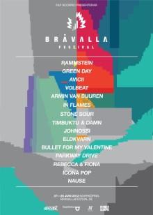 Fyra nya akter till Bråvalla Festival 2013 i Norrköping