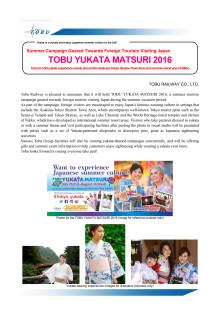 TOBU YUKATA MATSURI 2016