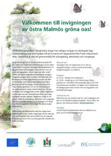 Invigning Skogholms ängar - inbjudan och program