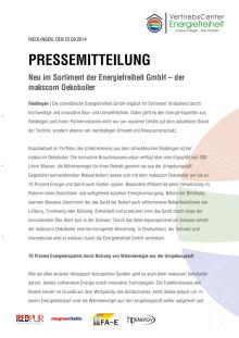 PM 17_Neu im Sortiment der Energiefreiheit GmbH – der makscom Oekoboiler