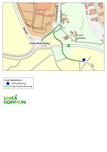 Björkutlämning, karta