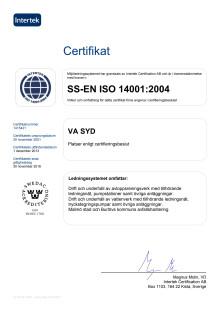 Certifikat Intertek