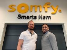 Somfy Sweden AB fortsätter satsning på Smartare Hem i Sverige!