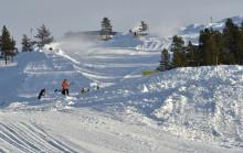 Nu tar skicrossbanan på Idre Fjäll form
