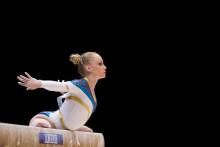 Final i fristående för Emma Larsson i världscupen i artistisk gymnastik