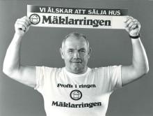 Ingo Johansson hjälpte till med reklamen - Mäklarringen fyller 30 år