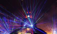 Nyårsfirande med lasershow och lasermapping i Lidköping