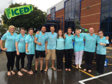 Fred. Olsen Cruise Lines takes up the 'Ice Bucket Challenge', in support of Macmillan