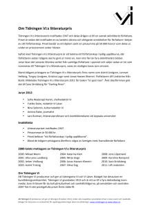 Faktablad Tidningen Vi:s litteraturpris