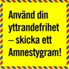 Startskott för Amnestys bloggstafett om yttrandefrihet