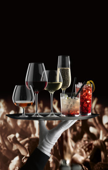 Professional Glassware Selection - New, simple drinking glass concept for the demanding hotel and gastronomy  industries