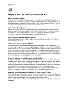 Frågor och svar om klimatcertifiering och kött