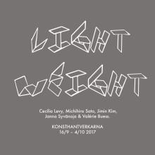 """NY UTSTÄLLNING: Internationell samlingsutställning """"Light Weight"""" 16/9–4/10 2017"""
