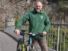 Ranger Ged gets on his council bike