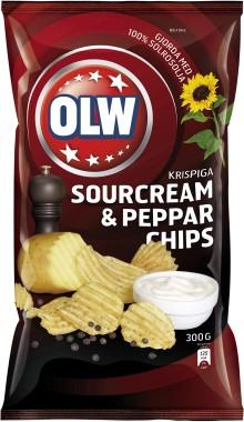 Svenskarna har fått en ny chipsfavorit: Pepprig smak från OLW gick rätt in på 10-i-topp-listan