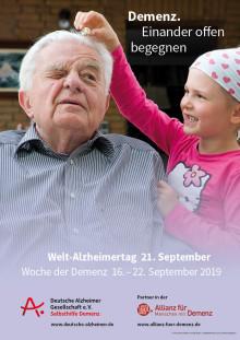 """""""Demenz. Einander offen begegnen"""" - Gemeinsame Pressemitteilung von DAlzG, DGGPP und Hirnliga zum Welt-Alzheimertag"""