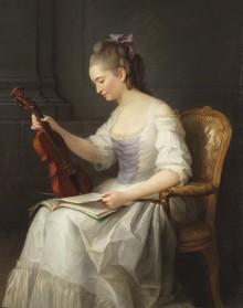 Nyförvärv: Anne Vallayer-Costers målning av en kvinnlig violinist