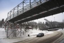 Holmenkollen får ny temporär bro