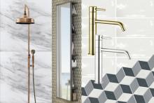 Mässing och marmor bland Hornbachs köks- och badrumsnyheter