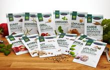 Ekologiska kryddor i ny design