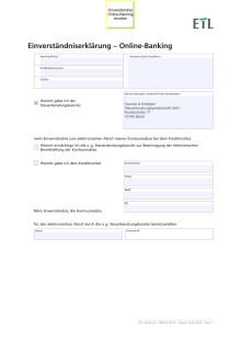 Einverständniserklärung – Online-Banking